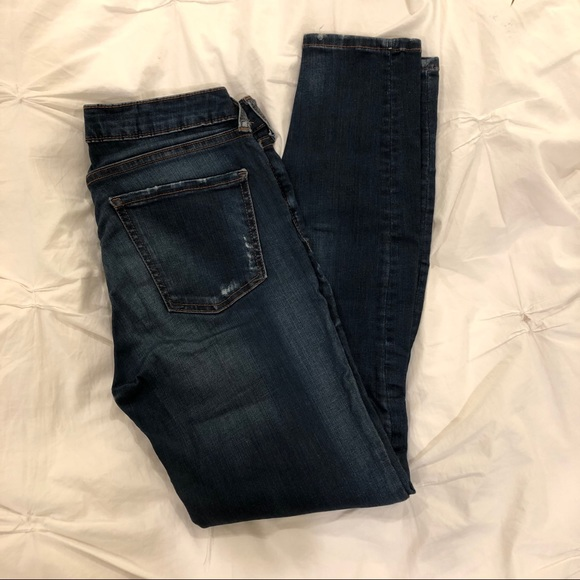 Zara Distressed Skinny Jeans. Stretchy